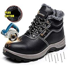 Men's Boots New Fashion Larnmern Men Work & Safety Shoes Steel-toe Caps Anti-puncture Security Shoes Breathable Boots Working Footwear Reflective Stripe Bracing Up The Whole System And Strengthening It