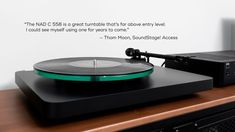 """In his @SoundStageNet Access #review of the @NADElectronics C 558, writer Thom Moon says that NAD's flagship #record player is """"a great #turntable that's far above #entry level."""" Visit our website at http://www.nadelectronics.com.au . #nadelectronics #nad Entry Level, Record Player, Turntable, Writer, Writers"""