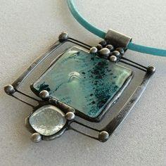 autorské šperky IH – artfashion – album na Rajčeti Sea Glass Jewelry, Stone Jewelry, Metal Jewelry, Pendant Jewelry, Beaded Jewelry, Handmade Jewelry, Jewelry Crafts, Jewelry Art, Jewelry Design