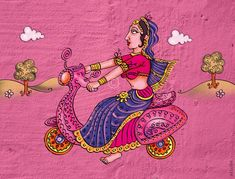 Contemporary and customized graffiti wall art for office interiors and homes Kerala Mural Painting, Indian Art Paintings, Graffiti Wall Art, Mural Wall Art, Madhubani Art, Madhubani Painting, Phad Painting, Kitsch, Saree Painting Designs