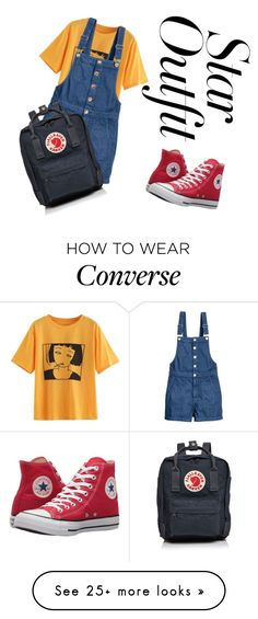 """Star outfit"" by katty6872 on Polyvore featuring H&M, Converse and Fjällräven"