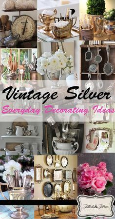 If you've been reading my blog, you know I love the look of Casual Elegance, so for me, adding just a touch of silver brings a touch of glamor to a room. So today I thought I'd share with you 8 of my favorite ideas for everyday decorating with silver.
