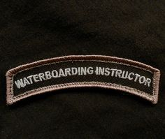 Waterboarding Instructor TAB Tactical Army Morale Milspec Isaf Swat Velcro  Patch  9bfb0f1f482