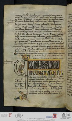 Vatikan, Biblioteca Apostolica Vaticana, Pal. lat. 207 Augustinus, Aurelius Tractatus in evangelium Iohannis XXIV-LIV — Lorsch, um 800