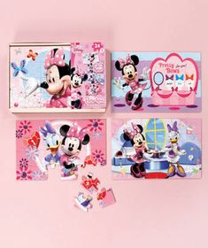 4-Pk. Minnie Mouse Bow-tique Wood Puzzles