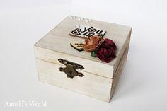 Caja vintage para llevar las arras en boda - Anuski´s World