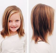 medium layered haircut for girls. Super cute! :)