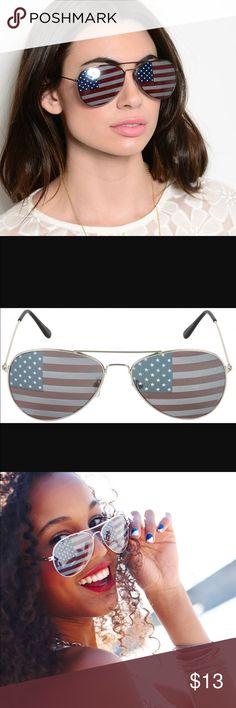 USA flag aviators! Show your pride! NWT American flag avatars! Accessories Sunglasses