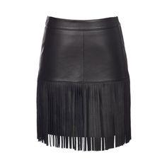 Scoop Leather Fringe Skirt