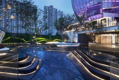 New Hope Group. Tianfu by Zinialand Design 致澜景观 – mooool Landscape Elements, Modern Landscape Design, Landscape Architecture Design, Chinese Architecture, Modern Landscaping, Contemporary Landscape, Urban Landscape, Landscape Art, Modern Water Feature
