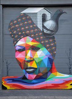 A street art vibrante e multidisciplinar de Okuda