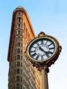 Flatiron Building and the fifth avenue Clock