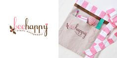 apron designed for bee happy events.