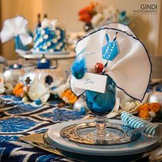 Gorgeous Thanksgivukkah Celebration.   See more party ideas at CatchMyParty.com.  #thanksgivukkah #partyideas