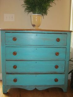 Painted Chest by 4girlspainting on Etsy, $400.00