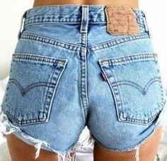 Levis high waist shorts Large, XL, Plus Size, SHIPS in 2 DAYS, high rise distressed cut offs  Choose Your Size on Etsy, $29.00