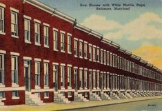 Baltimore's famous row homes with the immaculate white marble steps.