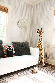 dotted wall + fun playroom