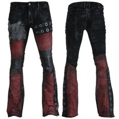 WSCP-206 Boot cut, black denim jeans, low rise, slim fit, slight stretch (Also available in straight cut or flare)