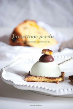 "Mon petit bistrot: Panettone ""perdu"" con bavarese al pistacchio e peperoncino Aji"