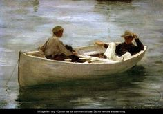 In the Rowing Boat, 1898 - Henry Scott Tuke - WikiGallery.org, the ...