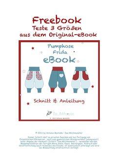 "Freebook Pumphose Frida Schnittergänzung Kapuze ""Martha"" Freebook Audrey Haarband"