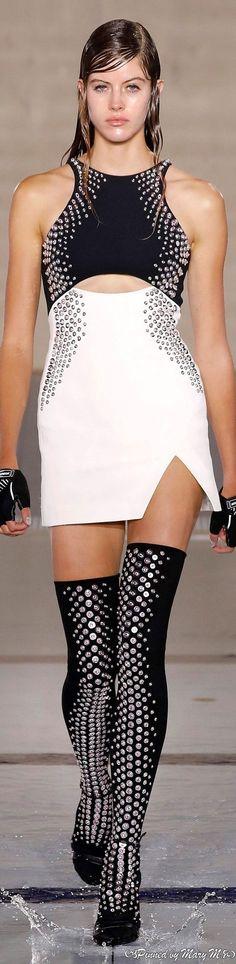 Metal Fashion, David Koma, Red Carpet, Peplum Dress, Red And White, Runway, Elegant, Spring, Dresses