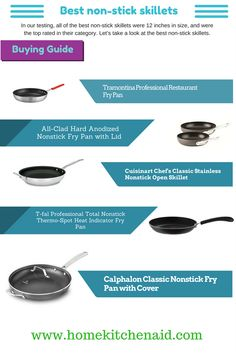 The professional quality of it, it would be hard to find better value or better performance. It has slightly higher sides, so flipping and turning food is effortless. In our testing, all of the best non-stick skillets were 12 inches in size, and were the top rated in their category. Let's take a look at the best non-stick skillets. http://www.homekitchenaid.com/best-non-stick-skillets/