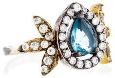Blue Quartz Butterfly Ring