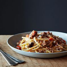Bolognese….Made this tonight… Amazing!!! Next time: try turkey, omit cream, add spice.