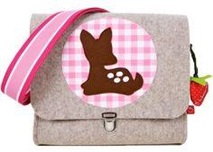 prachtig vilten kleuterboekentasje met bambi