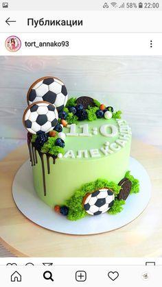 Soccer Birthday Cakes, 25th Birthday Cakes, Bithday Cake, Soccer Cake, Cake Decorating Designs, Easy Cake Decorating, Football Cake Design, Football Themed Cakes, Beautiful Birthday Cakes