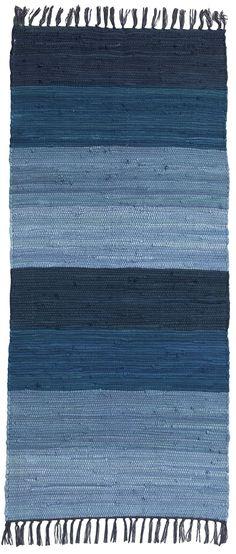 Shades of blue. Striped rug / Ellos