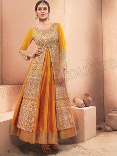 #Designer Salwar Kameez# Yellow#Indian Wear#Desi Fashion #Natasha Couture#Indian Ethnic Wear#Indian Suit#Anarkalis