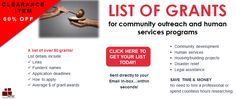 List of Grants for Community Outreach and Human Services Programs