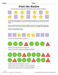 Math 6-7RP Ratio/Proportion on Pinterest | Fractions, Math and Math ...