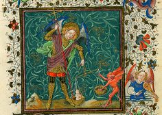 Archangel Saint Michael weighing a soul and struggling with a devil | par petrus.agricola