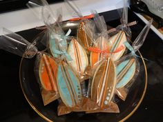 Surfboard Cookes 24 cookies by swtdreambuttercream on Etsy, $34.00 Surfboard Cake, Brown Sugar Cookies, Summer Beach Party, Luau, Home Gifts, Sweet 16, I Shop, Birthdays, Teen Beach