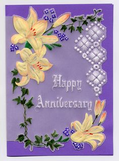 Anniversary Card - James Colter This would be a beautiful Easter card! Love the colors