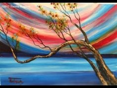 Abstract Seascape – Easy Acrylic Painting on Canvas for Beginners