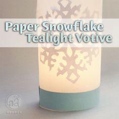 paper snowflake votive