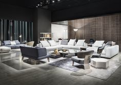 Freeman seating system , Creed Lounge Sofa, Creed Wood - Rodolfo Dordoni design