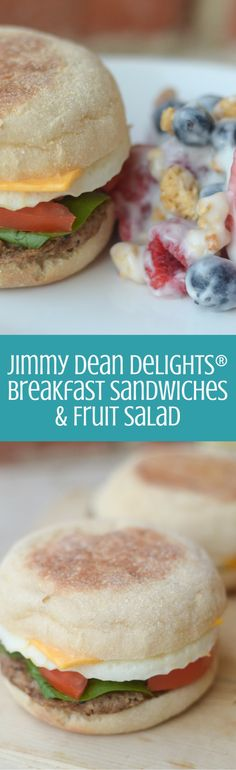 Jimmy Dean Delights Breakfast Sandwiches & Fruit Salad, perfect to start your morning! Nutritious Breakfast, Delicious Breakfast Recipes, Brunch Recipes, Brunch Foods, Homemade Breakfast, Make Ahead Breakfast, Breakfast Ideas, Cereal Recipes, Banana Bread Recipes