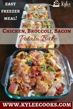 20 Make-Ahead Freezer Dinners for Busy Moms A tasty meal that is easy to double, triple or quadruple, so you have plenty of freezer meals when you need one! And it has bacon! Chicken Freezer Meals, Freezer Friendly Meals, Make Ahead Freezer Meals, Healthy Freezer Meals, Easy Meals, Freezer Cooking, Bacon Meals, Cooking Time, Freezer Meal Recipes