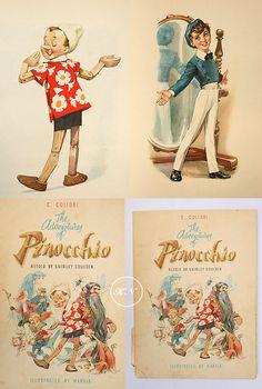 SALE Adventures of Pinocchio ca. 1958 First por KhaliNouveau