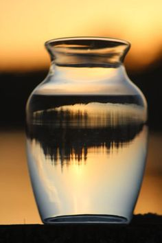 Sunset In A Glass Vase