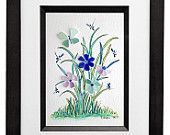 Sea Glass, Flowers, Butterfly and Dragonfly's 8x10 Frame