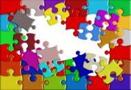 A jigsaw puzzle with pieces missing can be re-used in many crafty ways.  And we do have a few extra jigsaw puzzles.