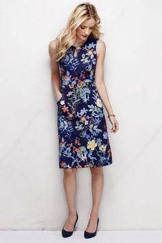 Women's Ponté Keyhole Sheath Dress - Print