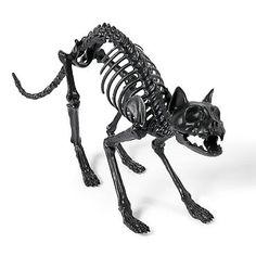 Grandin Road Halloween Haven 2014: Black Skeleton Cat